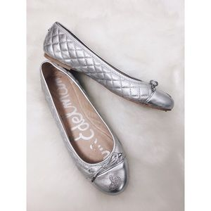 Sam Edelman | Silver Becka Leather Quilted Flats